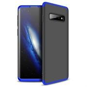 GKK Onzichtbare Samsung Galaxy S10 Cover - Blauw / Zwart