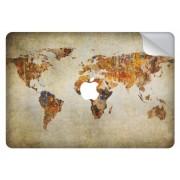 Wereldkaart design sticker voor de Pro Retina 13.3 inch (2016-2017) / Touch Bar