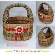Lovely Handmade Real Wicker Fruit Basket Unique Display Item