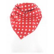 Rode bandana/boerenzakdoek met sterren