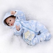 "22"" Lifelike Reborn Baby Silicone Boy Girl Alive Vinyl Dolls Handmade Stuffed Toys Girls Gifts Shooting Props"