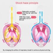 PULUZ 240mm Plier Tube Sports nautiques Équipement de plongée complet Dry Snorkel Masque pour GoPro HERO6 / 5/5 Session / 4 Session / 4/3 + / 3/2/1, Xiaoyi et autres caméras d action, taille S / M (rose)