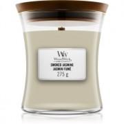 Woodwick Smoked Jasmine lumânare parfumată cu fitil din lemn 275 g