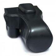 Bolso de la caja de la camara de cuero de la PU para Canon 600D / 700D / 750D / 760D - negro