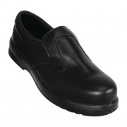Lites Safety Footwear Lites Safety Slip On Black 45 Size: 45