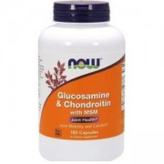 Глюкозамин и Хондроитин + МСМ - Glucosamine + Chondroitin + MSM - 180 капсули - NOW FOODS, NF3172