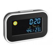 Ceas digital cu alarmă, temometru de cameră și umiditate interioară