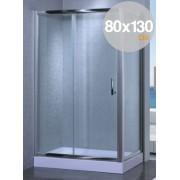 Box cabina doccia in cristallo trasparente mm 6 mod. Yadira cm. 80x130