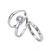 bpc bonprix collection Smycken: Dam Ringset med zirkoner (3 st) i silver - bpc collection
