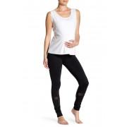 Electric Yoga Mesh Panel Leggings Maternity BLACK