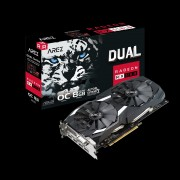 VGA Asus AREZ Dual Radeon RX 580 OC, AMD RX580, 8GB, do 1380MHz, DP 2x, DVI-D, HDMI 2x, 36mj (AREZ-DUAL-RX580-O8G)