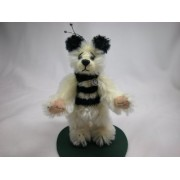 "World Of Miniature Bears 4"" Mohair Bear Queen Bee #954 Collectible Miniature Bear Made By Hand"