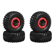 4pcs 2.2 Inch Rim Rubber Tyre Tire RC Car Wheel For 1/10 Crawler Axial