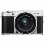 Fujifilm X-A5 Aparat Foto Mirrorless 24MP APSC Kit cu Obiectiv XC 15-45 F/3.5-5.6 OIS Argintiu
