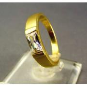 Zlatý dámsky prsteň s osadeným zirkónom žlté zlato DP55365Z