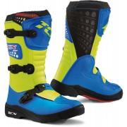 TCX Comp Kids Motocross Boots Blue Yellow 33