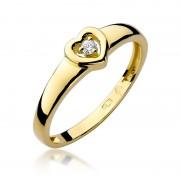 Biżuteria SAXO 14K Pierścionek z brylantem 0,04ct W-1 Złoty RATY 0% | GRATIS WYSYŁKA | GRATIS ZWROT DO 1 ROKU | 100% ORYGINAŁ!!