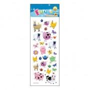 Merkloos Kinder boerderij stickers 30 stuks