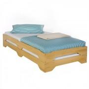 IDIMEX Lot de 2 lits superposables RONNY en pin, 90 x 200 cm, lasuré couleur hêtre