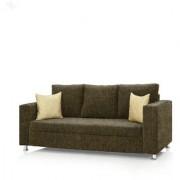 Earthwood - Fully Fabric Upholstered Three-Seater Sofa - Premium Valencia Moss Green