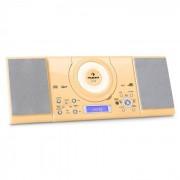 Auna MC-120 Microanlage Vertikalanlage MP3-CD-Player USB AUX Wandmontage creme