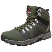 Reebok Men's Outdoor Voyager Mid Grn, Dark Sage, Blk and Grey Leather Nordic Walking Shoes -11 UK/India (45.5 EU) (12 US)
