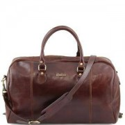 TUSCANY LEATHER Sac de Voyage Cuir Souple Marron TL Voyager -Tuscany Leather-