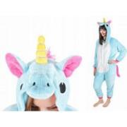 Costum Unicorn cu gluga pentru carnaval sau petreceri marime M culoare Albastru