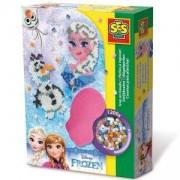 Детски креативен комплект с Мъниста - Замръзналото кралство SES, 080961