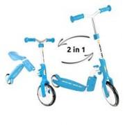 Trotineta Transformabila 2 In 1 Motion Kidz Motion Albastru