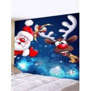 Rosegal Tapisserie Art Décoration Murale Pendante de Noël Cerf et Père Noël Imprimés Largeur 91 x Longueur 71 pouces