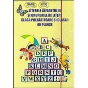 40 Planse - Literele alfabetului si grupurile de litere clasa pregatitoare si cls 1