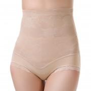 ER Las Mujeres De Cintura Alta Coreano Bordado Abdomen Body Shaper Levante Ropa Hip XL-El Color De La Piel