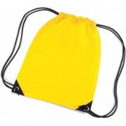 Merkloos Gele nylon touwtjes rugzak / rugtas