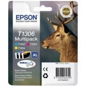 Epson T1306 Tintapatron multipack Stylus 525WD nyomtatóhoz, EPSON c+m+y, 30,3ml Eredeti kellékanyag