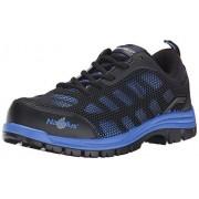 Nautilus Safety Footwear Nautilus 1821 Zapato Deportivo Antideslizante para pies de Peine no Expuesto de Metal, Negro/Azul, 9W US