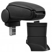 [pro.tec]® Lakťová opierka pre Fiat 500 - lakťová opierka - s odkladacím priestorom - koženka - čierna