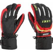 LEKI Glove Worldcup S Junior black/red/white/yellow 6