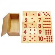 Alcoa Prime Wooden Box of 20pcs Montessori 1-10 Numbers Matching Up Puzzles Boards Toy