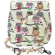 Katia Instant Camera PU Leather Case with Shoulder Strap and Pocket for Fujifilm Instax Mini 8 Instant Film Camera (Owl)