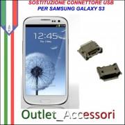 Sostituzione Riparazione Saldatura Porta Connettore Jack Usb Carica Ricarica per Samsung Galaxy S3