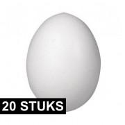 Rayher hobby materialen 20x Piepschuim figuren eieren van 12 cm