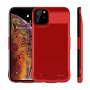 5200mAh Rechargeable Backup Extended Battery Charger Case for iPhone 11 Pro 5.8 inch - Red