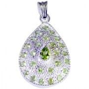 Riyo Peridot Silver Personalised Jewellery Aurora Pendant L 1.5in Spper-58010