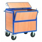 Rolléco Chariot de stockage en bois avec couvercle Longueur : 1200 mm