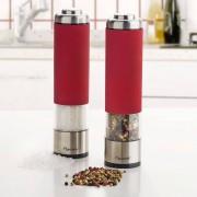 Bestron Conjunto moinho de sal e pimenta elétrico vermelho APS526R