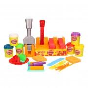 Merkloos Klei speelset hamburgers maken met 6 kleuren klei en accessoires speelgoed