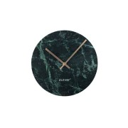 Zegar MARBLE TIME GREEN 8500034 Zuiver marmurowy zegar ścienny w kolorze zielonym