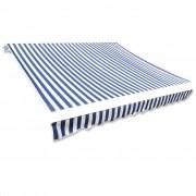 vidaXL Toldo direito 4 x 3 m Azul e Branco
