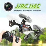 JJRC H6C 2.0MP Camera 6-axis Gyro 4-Channel 2.4GHz Drone Radio Control Quadcopter with LCD Transmitter(Red)